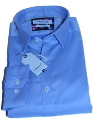 marnelli-overhemd-lichtblauw-effen