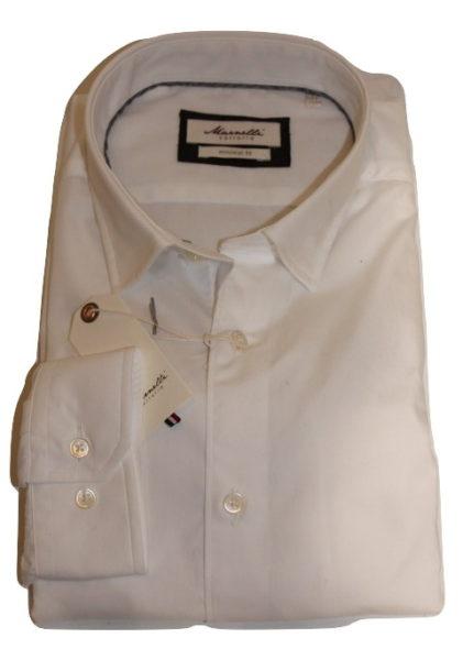 Wit Getailleerd Overhemd.Marnelli Sartoria Wit Overhemd Malmo Hbd