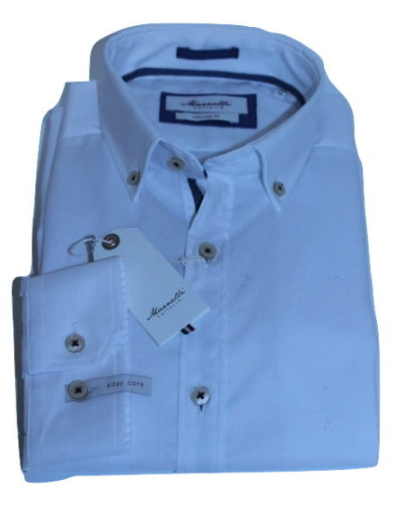 Wit Getailleerd Overhemd.Marnelli Sartoria Wit Overhemd Servo Bd