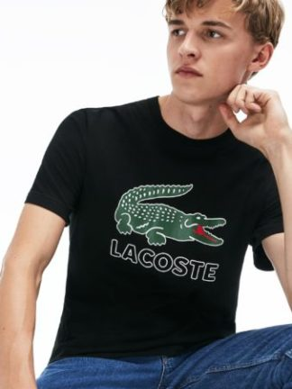 lacoste logo shirt zwart TH6386 031