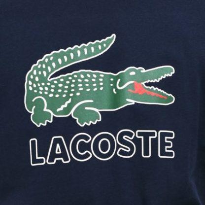 lacoste logo shirt donkerblauw TH6386 166