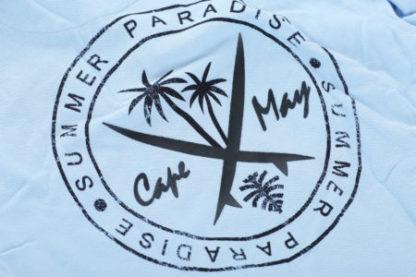 cape may polo tube blauw logo