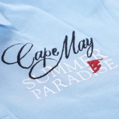 cape may polo tube blauw stof
