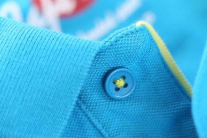cape may polo alaia cobalt blauw detail