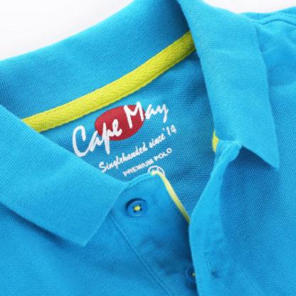 cape may polo alaia cobalt blauw kraag