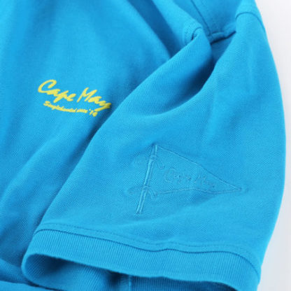 cape may polo alaia cobalt blauw stof