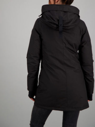 Airforce_dames_jassen_slimfit_parka_back_zw
