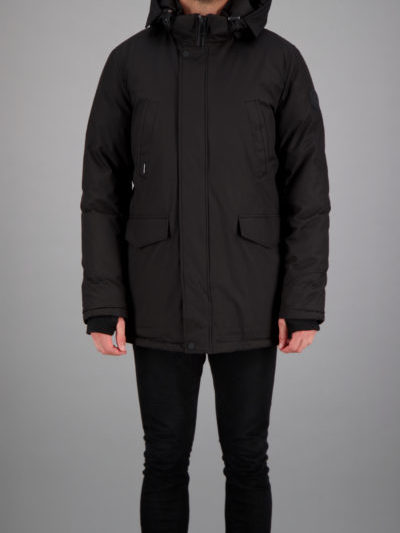 Airforce heren SLIMFIT PARKA zwart