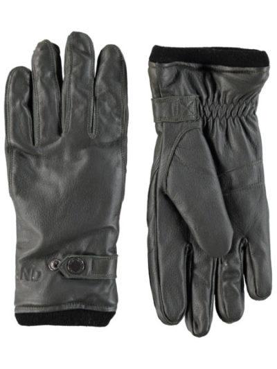 DNR_donders_heren_accesoires_leren_handschoenen_front_1_donkergroen