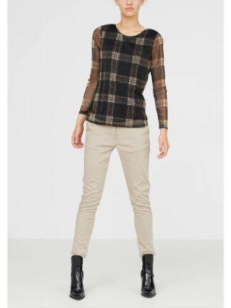 Isay_dames_blouses_&_tunieken_Blondie_mesh_blouse_torso_1_zw