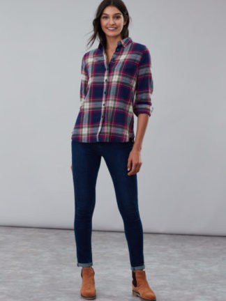 joules_dames_blouses_&_tunieken_Lorena_longline_brushed_woven_shirt_torso_1_ro