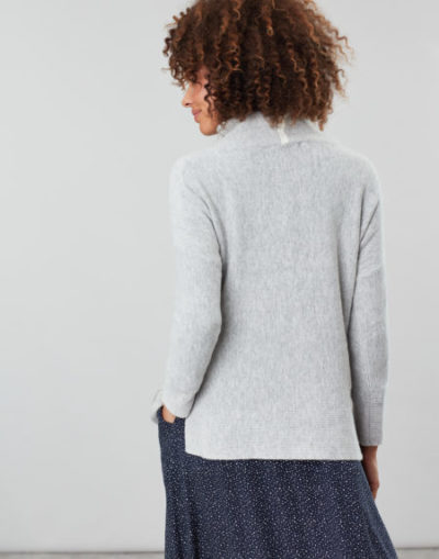 joules_dames_truien_Juniper_Cosy_dropped_shoulder_funnel_neck_With_rib_detail_back_2_gri