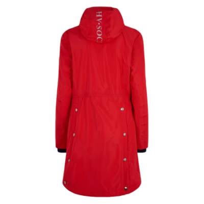 0406103200 hvpolo long jacket newent scarlet red