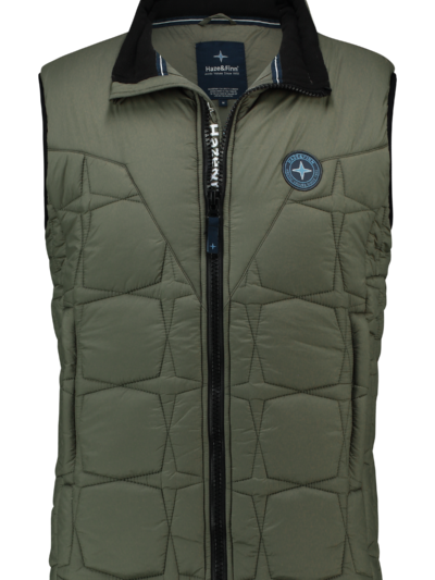 MC13-1030 Haze Finn Puffer Bodywarmer Army Green 1