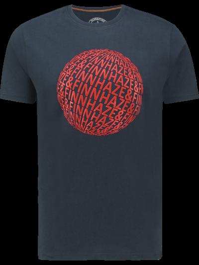 MU13-0013 Haze Finn Tee Big Globe Sapphire American Red 1