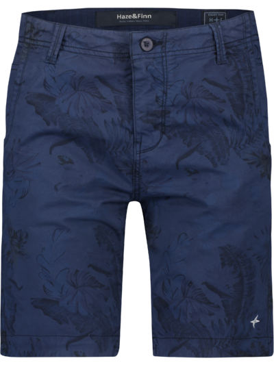 MU13-0518 Haze Finn Short Casual Print Navy Jungle AOP 1