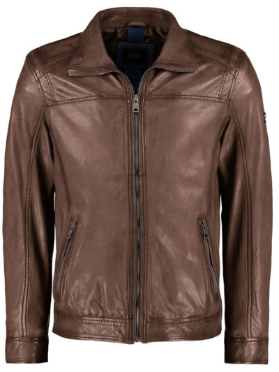 52081 833 52 DNR Est 1860 heren Leather Jack bruin echt leder 1