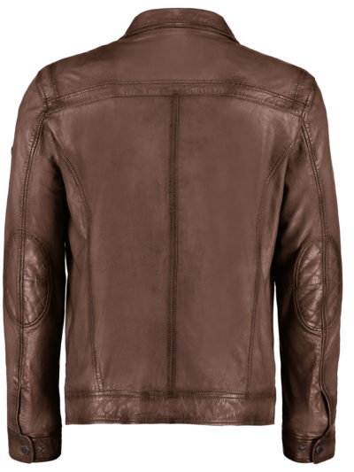 52081 833 52 DNR Est 1860 heren Leather Jack bruin echt leder 2