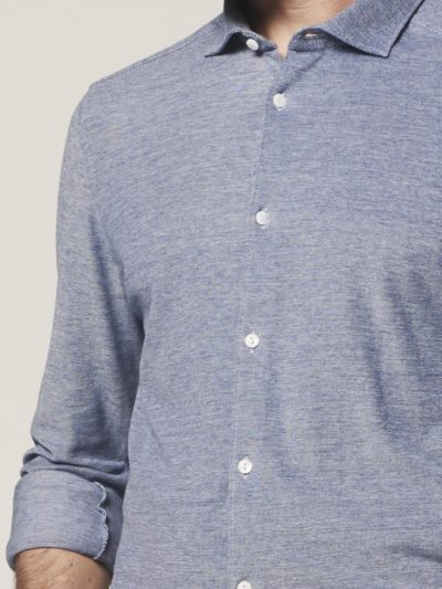 dstrezzed overhemd cut away melange pique