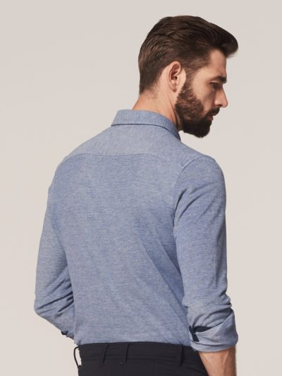 dstrezzed overhemd cut away melange pique back