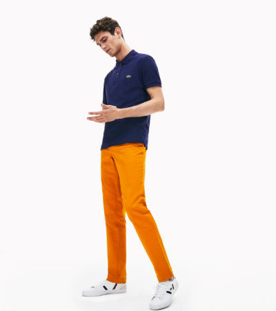 Lacoste slimfit polo PH4012 166 donkerblauw