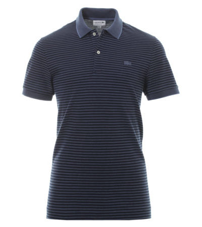 Lacoste striped polo PH5055 USU donkerblauw