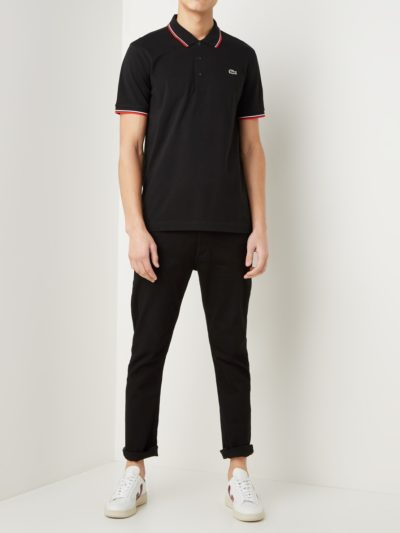 Lacoste training polo super light knit YH7900 G54 zwart