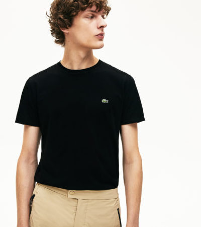 Lacoste t-shirt jersey pima cotton TH6709 031 zwart