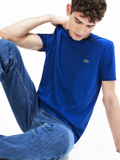 Lacoste t-shirt jersey pima cotton TH6709 Z7Z blauw
