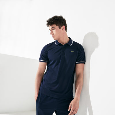 Lacoste training polo super light knit YH7900 2YE donkerblauw