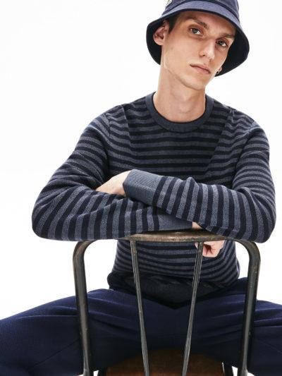 Lacoste striped sweater AH4674 USU blauw