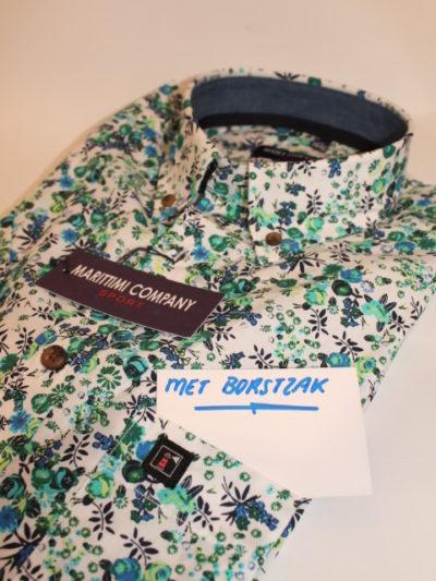 Marittimi Company safari print overhemd korte mouw