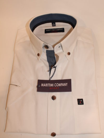 Marittimi Company effen overhemd korte mouw