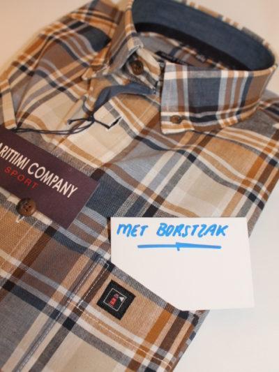 Marittimi Company ruit overhemd korte mouw