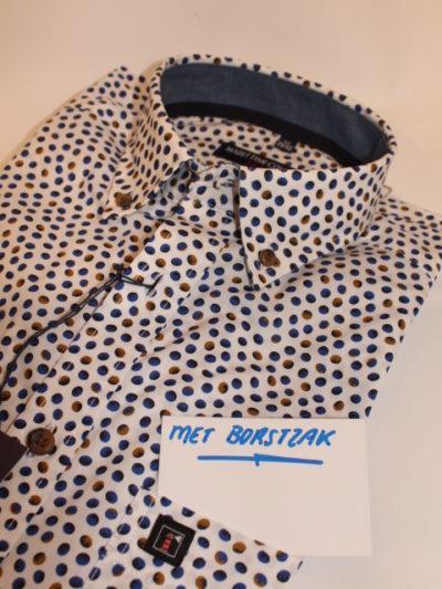 Marittimi Company stip overhemd korte mouw
