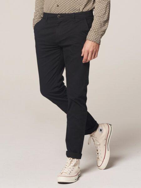 Dstrezzed Chino Pants Mini Pattern Lt. Stretch Twill Navy