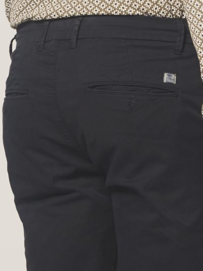 Dstrezzed Chino Pants Mini Pattern Lt. Stretch Twill Navy 4