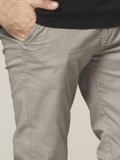 Dstrezzed-Chino-Pants-Mini Pattern-Stretch-Twill-Sand 2