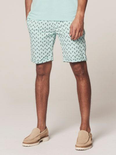 Dstrezzed Chino Shorts Pineapple Lt. Stretch Twill Turqoise 1