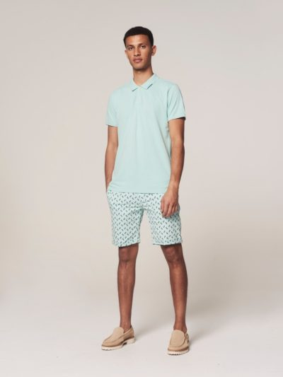Dstrezzed Chino Shorts Pineapple Lt. Stretch Twill Turqoise 4