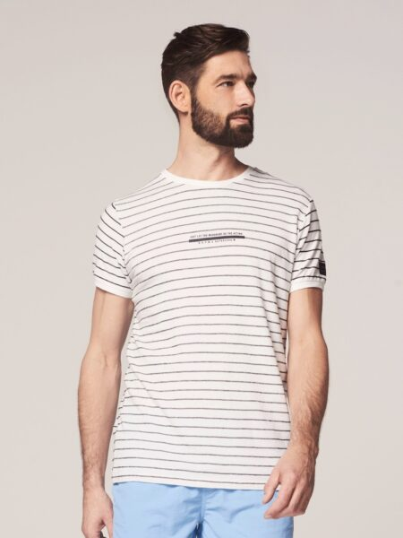 Dstrezzed Crew s/s Broken Stripe White 1