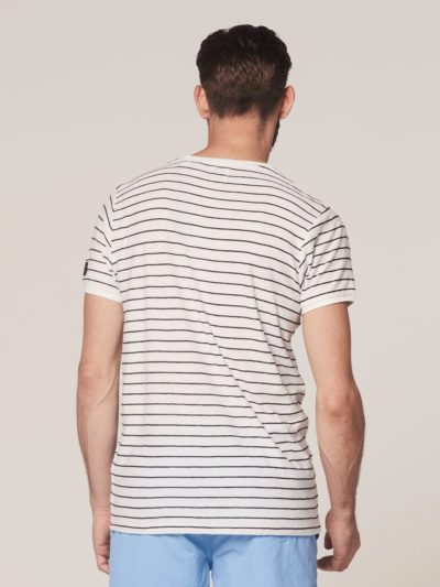Dstrezzed Crew s/s Broken Stripe White 2