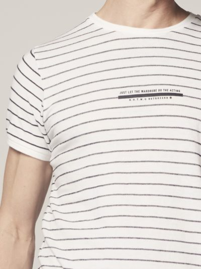 Dstrezzed Crew s/s Broken Stripe White 3