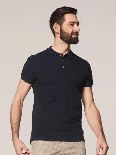 Dstrezzed Polo s/s Clean Pique Navy 1