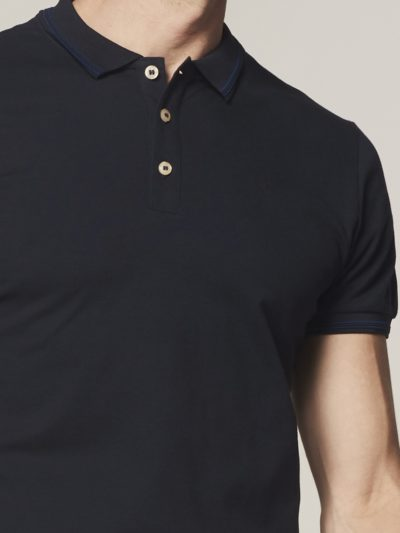 Dstrezzed Polo s/s Clean Pique Navy 3