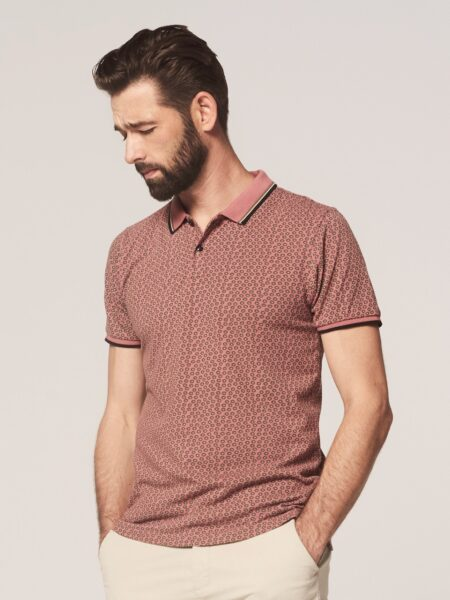 Dstrezzed Polo s/s Six Angle Pique Old Pink 1