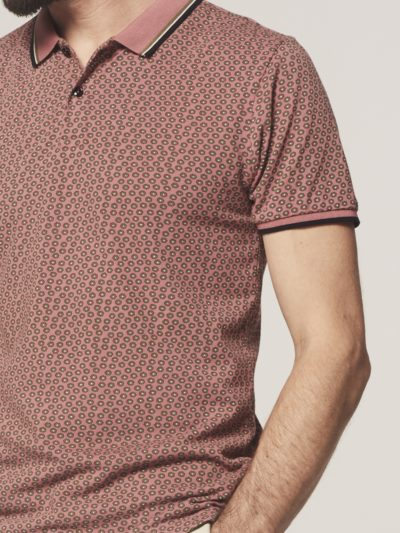 Dstrezzed Polo s/s Six Angle Pique Old Pink 3