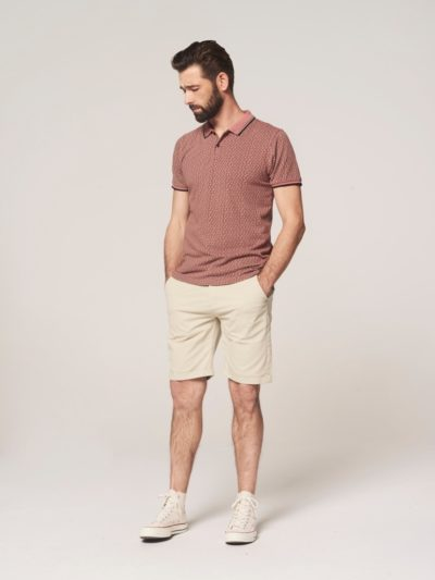 Dstrezzed Polo s/s Six Angle Pique Old Pink 4