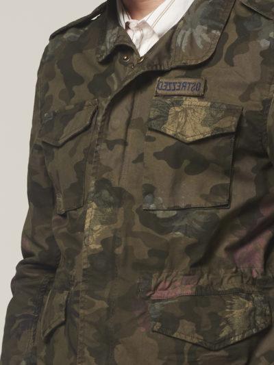 Dstrezzed Worker Jacket Stretch Twill Army Green Camo 3