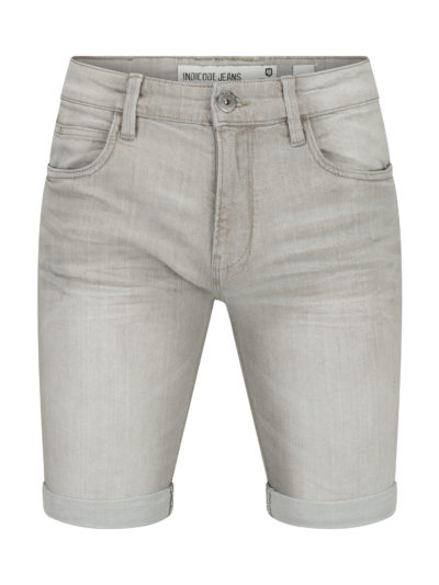 Indicode Kaden korte spijkerbroek grijs
